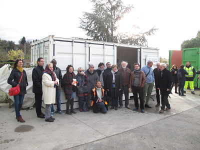 inauguration container ressourcerie recyclerie bourg de peage